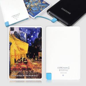 스마트폰 보조배터리, 휴대용충전기, 외장배터리, 전자담배충전, 카드형 오키 SB-2500 고흐 밤의카페테라스